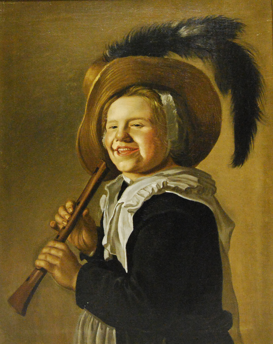 Unknown (after Jan Miense Molenaer), Girl with a Recorder, c. 1650. Oil on canvas, 69.3 x 55.1 cm. Gift of Mrs. Canon Morris, Halifax, Nova Scotia, 1932.