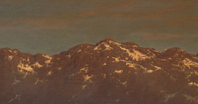 Gustave Doré, Landscape with the Pyrenees (detail), c 1860. Oil on canvas, 95.3 x 179.5 cm. Gift of Dr. and Mrs. S. T. Laufer, Halifax, Nova Scotia, 1991. 1991.39