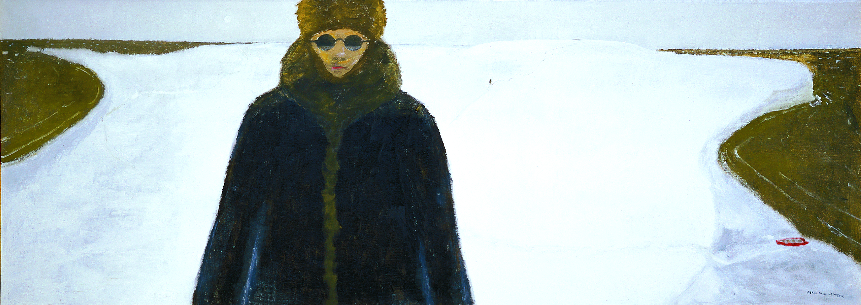 Jean Paul Lemieux, Le Découvreur, 1976, Oil on canvas, 74.7 x 206.0 cm, 1994.246, Gift of Christopher Ondaatje, Toronto, Ontario, 1994