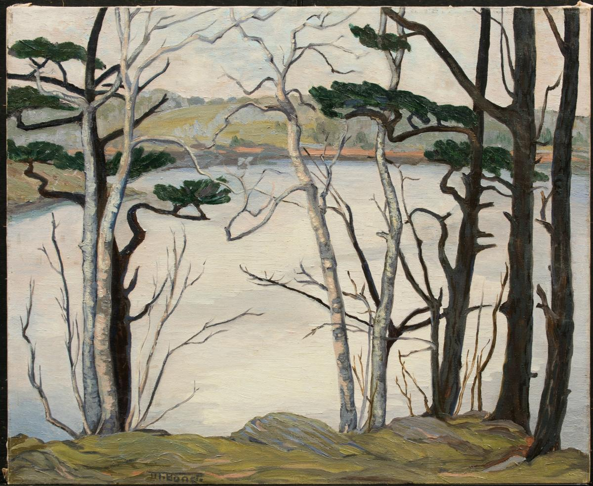 Marion Bond, On A Warm March Day, c 1945, oil on canvas.