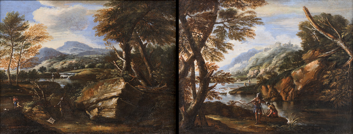 Works by artist Salvator Rosa