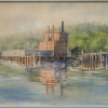 Alice Egan Hagen, <em>Sugar Refinery on the Arm</em> , c.1903, watercolour, 28.0 x 38.0 cm. Gift of Elizabeth Haigh, NTL2018.673