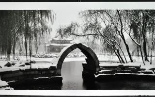 Lois Conner, <em>Yuan Ming Yuan, Garden of Perfect Brightness: Changchun Yuan</em>, 1998-2002, Gelatin silver print on Agfa Classic paper, 30/50, 20.1 x 45.4 cm. Gift of Dr. John Krawczyk, New Glasgow, Nova Scotia, 2012