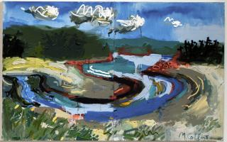 Matthew Collins, Carters Beach with Marker Paint, 2015-2016.  Purchased with funds provided by the Art Sales and Rental Society, Halifax, Nova Scotia, 2017