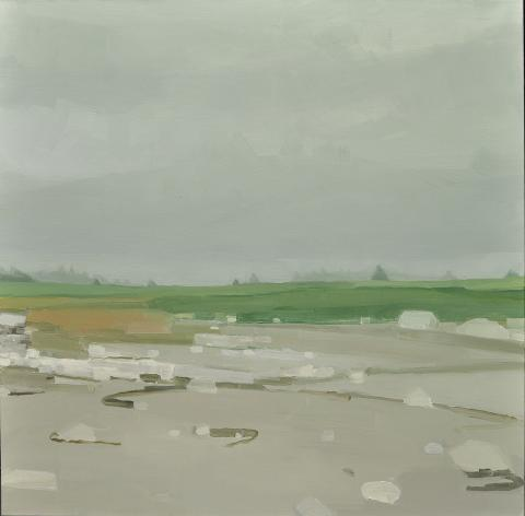 SaraMacCulloch, Beach Rocks and Sand, 2013, Oil on canvas 122.2 x 122.2 cm Purchased with funds provided by Fred Fountain, Halifax, Nova Scotia, 2014 2014.1