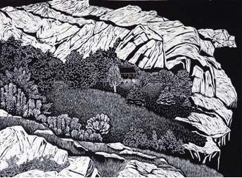 Cecil Day, Landfall II, 2007, Linocut on Somerset paper, 1/4, 45.2 x 61.2 cm (plate). Purchase, 2011, 2011.19