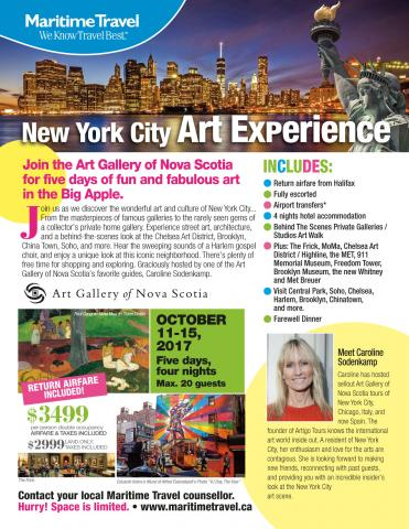 New York Art Tour with Art Gallery NS & Maritime Travel