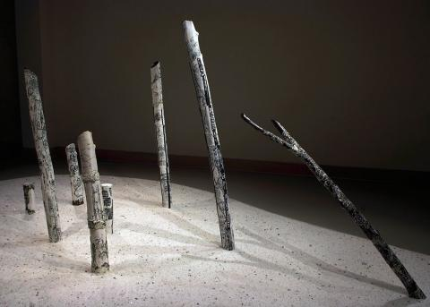 Grace Nickel, Devastatus Rememorari, 2008. Porcelain (with terra sigillata, oxide, and glaze), salt 195.0 x 338.0 x 735.0 cm. Gift of the Artist, Winnipeg, Manitoba, 2014, with assistance from the Jean and Lloyd Shaw Endowment Fund. NTL2014.61