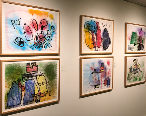 Installation view of Autism Arts, on view at the Art Gallery of Nova Scotia