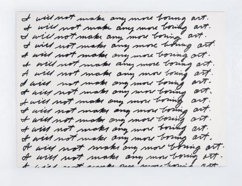 John Baldessari, I Will Not Make Any More Boring Art