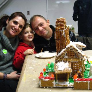 Family at Gingerbread Sunday