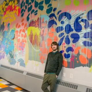 Jared Betts - New Brunswick provincial mural commission. Photo by Hannah Jones