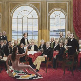 Kent Monkman, The Daddies, 2016 Acrylic on canvas, Collection of Christine Armstrong and Irfhan Rawji